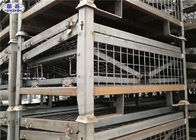 Heavy Duty Pallet Storage Cage Folding Galvanized Metallic Box 1200*1000*890mm