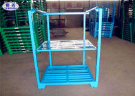 Powder Coated Steel Stacking Racks , Warehouse Stackable Pallet Racks For Wheat