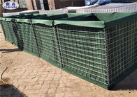 Geotextile Lined Military Hesco Barriers For Blast Mitigation And Ballistics Protection
