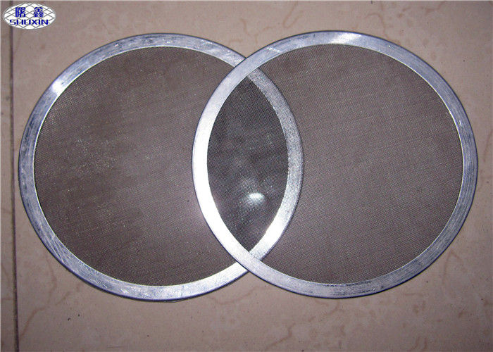 Round Sintered Metal Filter Disc With Aluminum Edge