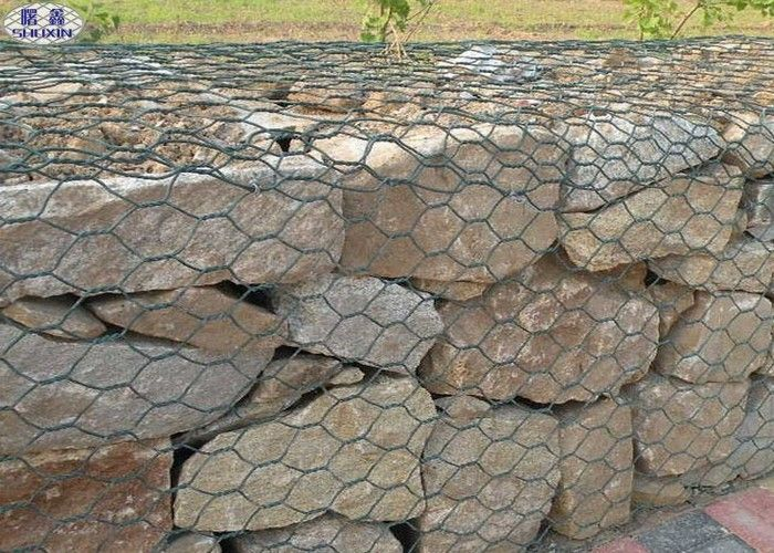 Customized Galvanized Galfan Pvc Gabion Reinforced Wall Flexible Protective Mesh